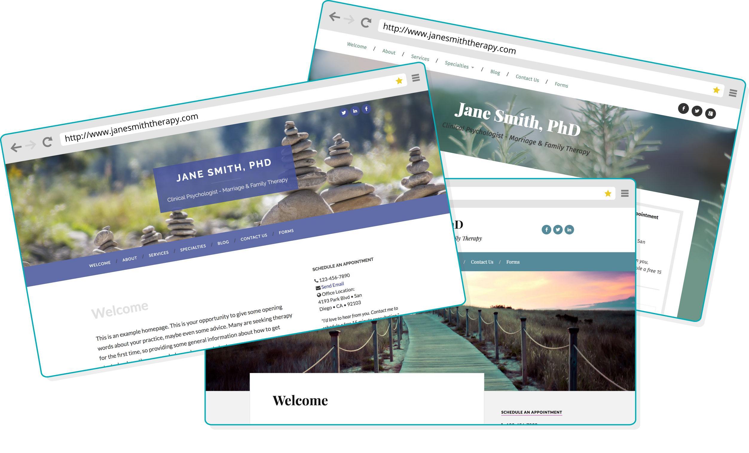 Free Therapist Websites