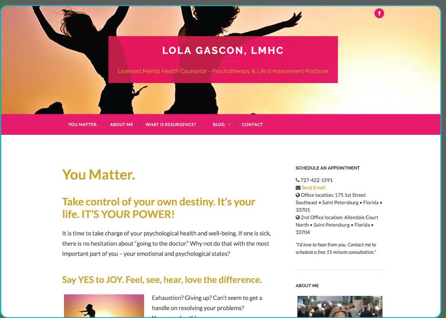 Lola Gascon, LMHC - Psychotherapy